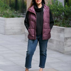 Nau Ellipsis Down Vest in Plum